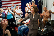 GOP Presidential candidate Rep. Michele Bachmann arrives at a town hall event in Marshalltown, Iowa, July 23, 2011.