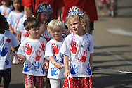 The annual First Baptist Church's Weekday Education Fourth of July parade in Oxford, Miss. on Tuesday, July 3, 2012.