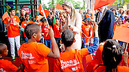 """13-5-2015 - ZWOLLE - Queen maxima visits theater """" de Spiegel """" in Zwolle the Symphony of Fear Hazen and Daredevils at. The show is performed by the Dutch Symphony Orchestra in collaboration with children from asylum seekers and children from primary schools in Overijssel.COPYRIGHT ROBIN UTRECHT"""