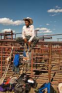 Crow Fair Rodeo, Jr. Steer Rider, Crow Indian Reservation, Montana, teenagers