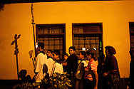 A nighttime religious procession on Thursday, Apr. 9, 2009 in Lima, Peru.