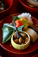"Shojin Ryori Vegetarian Temple Cuisine ""Shojin Ryori"" is vegetarian cuisine at its best, consisting of pickled, seasonal vegetables and a variety of tofu dishes artfully arranged on lacquerware."