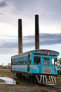 Passenger train in Rafael Freyre, Holguin, Cuba.