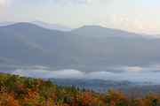 Bear Notch Road Overlook, Twin Mountain, New Hampshire dawn clouds overlooking Bartlet