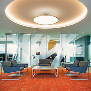Corporate lounge at the General Electric Calgary Innovation Centre.