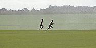 Boys Running Through Sprinklers, Cutchogue New York, North Fork, Long Island