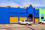Colorful storefronts in Clewiston, Florida along US Route 27. WATERMARKS WILL NOT APPEAR ON PRINTS OR LICENSED IMAGES.