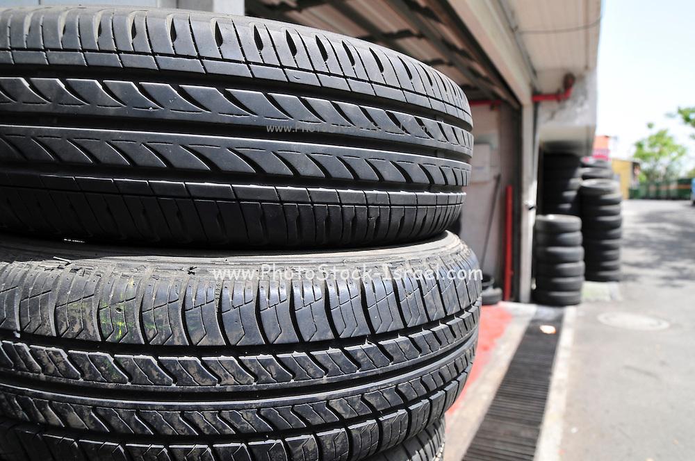 Tyre garage new tyre storage