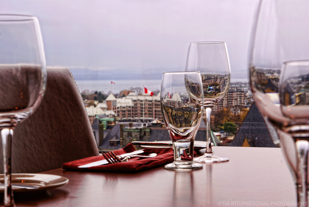 WIneglasses, Vista 18 Restaurant, Chateau Victoria Hotel & Suites, Victoria, British Columbia, Canada