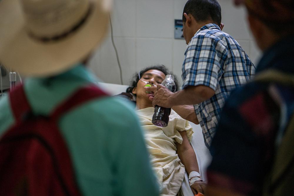 Roberto Portillo  by her family at Occidente Hospital in Santa Rosa de Copan, Copan, Honduras on Feb. 11, 2017. Photo Ken Cedeno