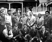 Group Picture of Transit Workers' Union Officials With General Manager Curtis Green at Washington Mason Carhouse | Circa 1973