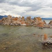 Mono Lake Tufa And Windy Shoreline - Incoming Storm