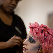 04/20/12 Newark Del. Stylist Jasmine Furronh works on model SarahReadon Ayers hair during a dress rehearsal Friday, April. 20, 2012 at The Paul Mitchell school of Delaware Friday, April. 20, 2012 in Newark Del...Special to The News Journal/SAQUAN STIMPSON