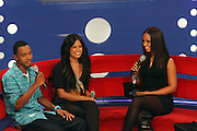 l to r: Terrence Jenkins, Rocsi and Alicia Keys at the announcement for The 2009 BET HIP HOP Awards Nominees held at BET Studios on September 16, 2009 in New York City