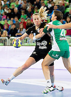 Nina Woerz of Krim during handball match between RK Krim Mercator and Gyori Audi ETO KC (HUN) in 3rd Round of Group B of EHF Women's Champions League 2012/13 on October 28, 2012 in Arena Stozice, Ljubljana, Slovenia. (Photo By Vid Ponikvar / Sportida)