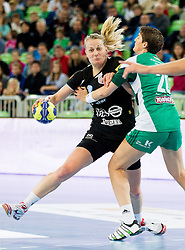 Nina Woerz of Krim during handball match between RK Krim Mercator and Gyori Audi ETO KC (HUN) in 3rd Round of Group B of EHF Women's Champions League 2012/13 on October 28, 2012 in Arena Stozice, Ljubljana, Slovenia. (Photo By Vid Ponikvar / Sportida)