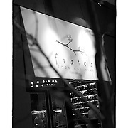 SHOT 1/11/11 6:21:25 PM - The front window and an awning along Pearl Street at Frasca Food and Wine in the Boulder, Co. Frasca is a highly-rated neighborhood restaurant inspired by the cuisine and culture of Friuli, Italy. Historically found throughout Friuli, Frascas were friendly and informal gathering places, a destination for farmers, friends, and families to share a meal and a bottle of wine. Identified by a tree branch hanging over a doorway portal, they were a symbol of local farm cuisine, wine, and warm hospitality. (Photo by Marc Piscotty / © 2011)