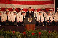 President Obama speaks about the change in action at the graduation of the 114th Columbus Police Academy.