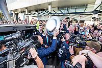 EINDHOVEN - PSV - SC Heerenveen , Eredivisie , voetbal , Philips stadion , seizoen 2014/2015 , 18-04-2015 , KNVB Directeur Bert van Oostveen komt aan met de schaal