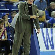 Delaware Women's Head coach Tina Martin yells instruction to her team during a Quarterfinals Women's National Invitation Tournament Preseason game against Georgetown Sunday, Nov. 11, 2012 at the Bob Carpenter Center in Newark Delaware.