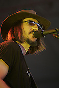 June 17, 2006; Manchester, TN.  2006 Bonnaroo Music Festival..Les Claypool peforms at Bonnaroo 2006.  Photo by Bryan Rinnert