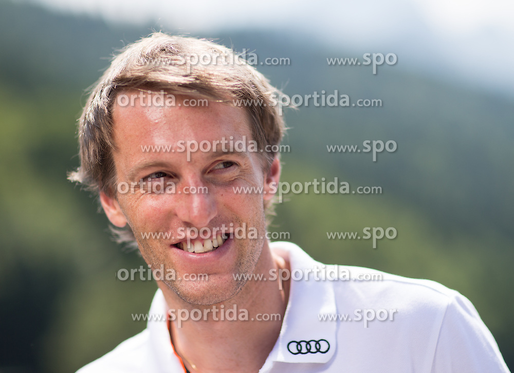 17.07.2013, Riessersee Hotel, Garmisch Partenkirchen, GER, DSV, Medientermin Herren, im Bild DSV Skirennlaeufer Fritz Topfer // german Ski racer Fritz Topfer during a the men Media Event of German Ski Association at Riessersee Hotel, Garmisch Partenkirchen, Germany on 2013/07/17