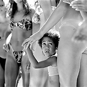 CHILLIWACK, BC -- A young girl is discomfited to find herself in the middle of a bikini contest in Chilliwack, BC.<br /> (Steve McKinley photo.)