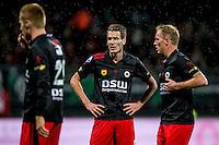 ROTTERDAM - Excelsior - PEC Zwolle , Voetbal , Eredivisie , Seizoen 2016/2017 , Stadion Woudestein , 21-10-2016 , Excelsior speler Kevin Vermeulen (m) kijkt ontevreden tijdens de wedstrijd