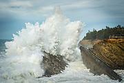 Storm surf at Shore Acres State Park, Oregon Coast.