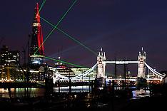 The Shard inaugural laser show