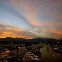 A  colorful dawn at the Puerto Vallarta marina Mexico.