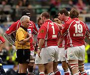2006, Powergen Cup, Twickenham,  Referee Alan Lewis, London Wasps vs Llanelli Scarlets, ENGLAND, 09.04.2006, 2006, , © Peter Spurrier/Intersport-images.com.   [Mandatory Credit, Peter Spurier/ Intersport Images].