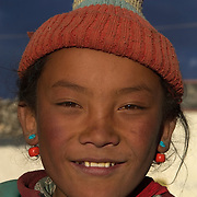 A young Tibetan girl in Tingri, Tibet.
