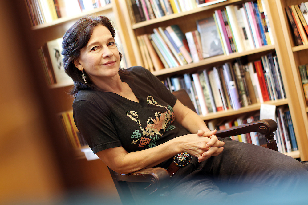 "Author Louise Erdrich photographed in her bookstore, Birchbark Books and Native Arts, in Minneapolis, MN, September 27, 2012.  Erdrich's new book is ""The Round House."" The novel is about a woman who suffers psychological trauma after an attack, and her son tries to help by visiting the Round House, a sacred space and place of worship for the Ojibwe."