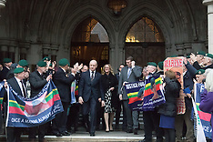 2017-02-08 Supporters for Sgt Alex Blackman outside High Court as appeal is heard.