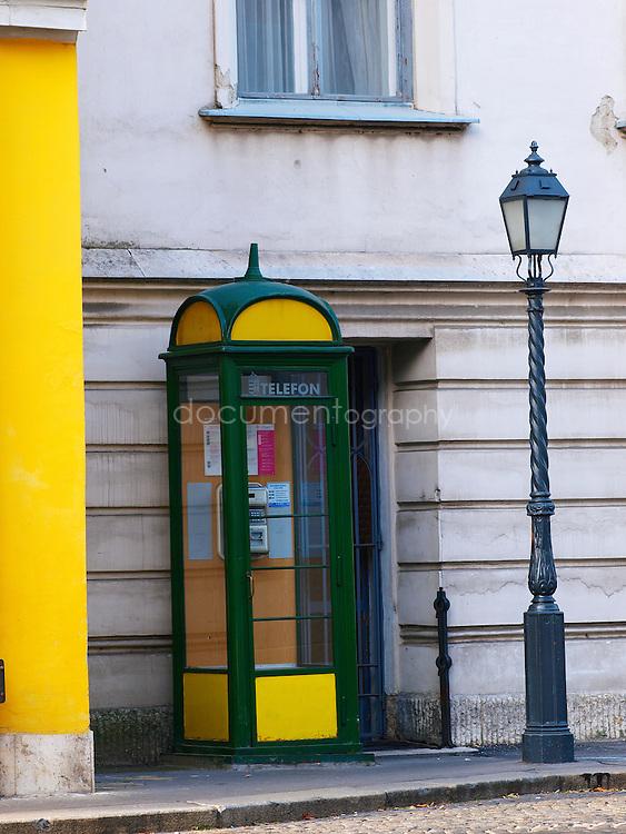 Phone box, Budapest, Hungary.