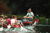 1990 Dragon Boats, Serpentine Lake, London, GREAT BRITAIN