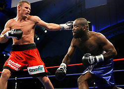 June 2, 2007; Atlantic City, NJ, USA;  Robert Stieglitz (red trunks) defeats Marlon Hayes via unanimous decision at Boardwalk Hall in Atlantic City, NJ.