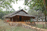 The Yao Ho people traditionally built a separate granary next to the house. In the past, if the family had many fields, it usually had two or three granaries. the architecture of the  granary is that of a stilt house, with a small door large enough for a person to pass through. the floor, made or plaited bamboo, rests on four columns, and there is a bamboo roof.
