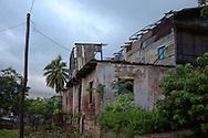 Dilapidated building in Antilla, Holguin, Cuba.