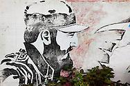 Revolutionary sign in Rafael Freyre, Holguin, Cuba.