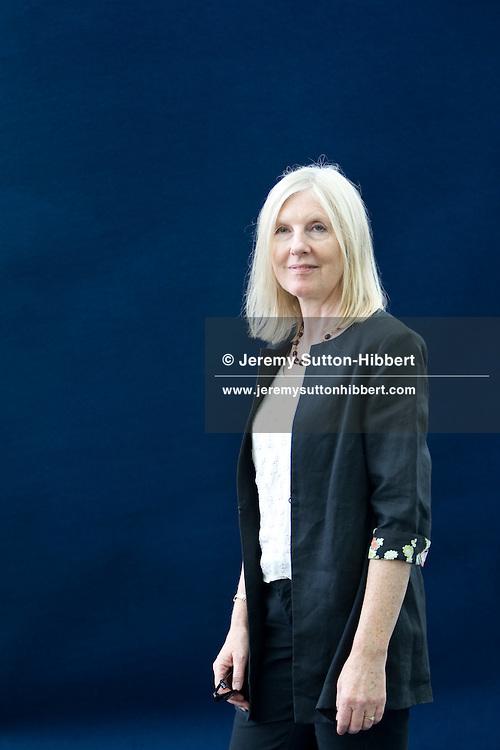 Helen Dunmore, prolific author and winner of Orange Prize.  Edinburgh International Book Festival, Edinburgh, Scotland. Edinburgh is the inaugural UNESCO City of Literature.