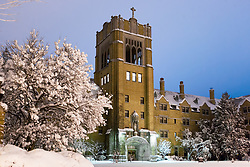 Saint Mary's College Le Mans Hall in winter