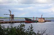 Swamped ship in Nicaro, Holguin, Cuba.
