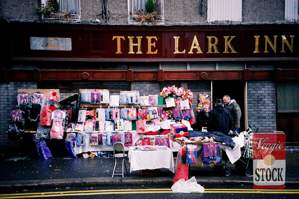 Shoppers go about their business in the area of the Liberties Market, Dublin, Ireland, October 2009.
