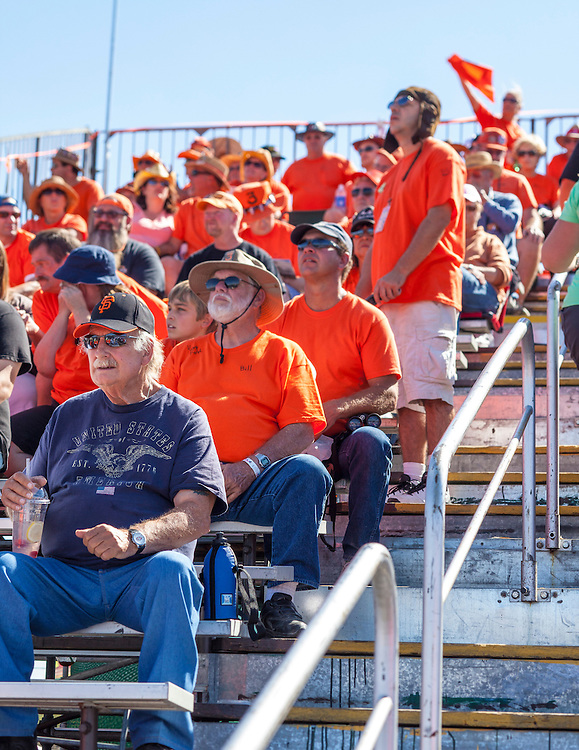 """The orange-clad """"crazies"""" are renowned for their loud cheering, adult beverages, and otherwise rowdy behavior in the stands at the Reno Air Races."""