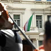 Demonstration at Iranian embassy, London
