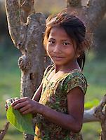 Young Nepali girl, Bardiya, Nepal