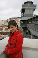 Fado singer Katia Guerreiro is one of the young singers generation  that are bringing a new strenght to this traditional kind of portuguese music. here Katia is near Santa Justa Lift, one of the best lookouts to see Lisbon panorama. The lift was projected by Mesnier de Ponsard, one of gustave Eiffel disciples.