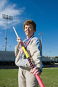 Flo Meiler of Shelburne, Vt., is one of the top female track and field athletes in the 70 and over age group. A former water skier, she never tried any of her dozen sports until she was 60 years old.